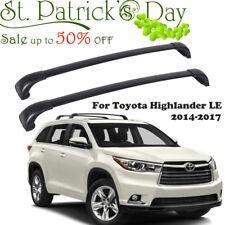 For 2014-2017 Toyota Highlander LE Black Aluminum Adjustable Roof Rack Cross Bar