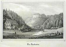 SÄCHSISCHE SCHWEIZ - HOCKSTEIN - Saxonia - Lithografie 1837