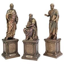 Set of 3: Ancient Greek Philosophers Philosophy Masters on Pillared Pedestals