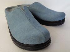 KLOGS Como US 10M Blue Denim Platform Casual Clogs Shoe Maxum