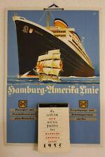 Hamburg - Amerika Linie HAPAG  Kalenderpappe mit original Abreißkalender 1935