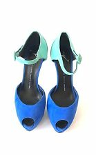 Giuseppe Zanotti Size 10/40 Blue Suede Heels