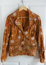 JOHNNY WAS sz M light brown all over embroidered jacket blazer EUC
