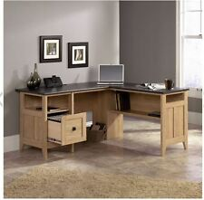lshaped office desk corner home computer workstation wood drawers student table