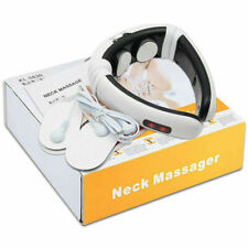 Electric Tens Unit Pulse Neck Massager Magnetic Therapy Vertebra Shoulder Relax