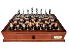 CHESS DAL ROSSI METAL/MARBLE Family Board Game Birthday Christmas Gift ON SALE