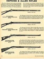 1972 Print Ad of Hopkins & Allen The Minuteman, Heritage & Offhand Muzzle Rifle