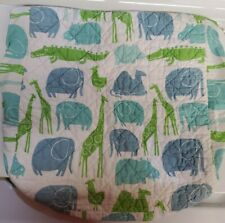 Land Of Nod Without A Peep Changing Pad Cover 35.5 X 16