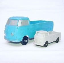 Tomte Laerdal Norway 1:30 VOLKSWAGEN Transporter PICK-UP Blue Vinyl Bus NM`65