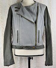 Blanc Noir Moto Jacket Coat Women's Size Extra Large Canvas Body Inventory: C-74
