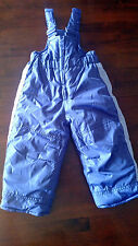 HAWKE & CO. Baby Girl's Purple Winter Bib Overall Snow Pants 12 mos