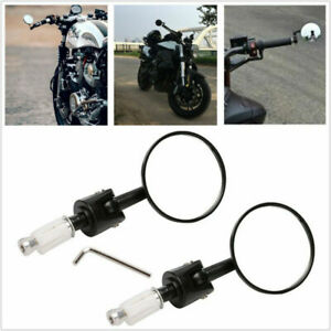 Motorcycle Universal Retro All-aluminum Round Handlebar Mounting Rearview Mirror