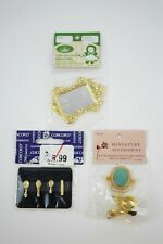 Vintage Brass Copper Dollhouse Miniature Sets NOS Concord, Lans Accessories
