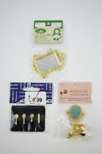 Vintage Brass Copper Dollhouse Miniature Sets NOS Concord, Lans Accessories