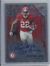 "CHRISTION JONES 2015 UPPER DECK INSCRIPTIONS ALABAMA ON CARD RC AUTO ""GO BAMA"""