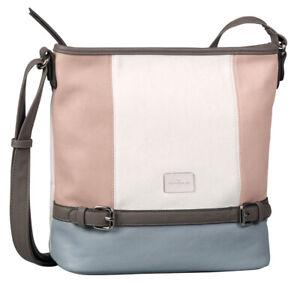 TOM TAILOR Juna Crosbody Bag Umhängetasche Tasche Mixed Rose Rosa Blau Neu