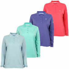 Island Green Ladies Long Sleeve 4 Button Golf Polo Shirt 45% OFF RRP