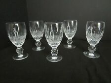Waterford Set of FIVE  Small  Stems, After dinner / Liqueur glasses - Pre-Owned