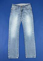Guess jeans usa donna usato slim blu denim W26 tg 40 stretch boyfriend T6645