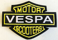 Vespa Motor Scooters Patch  - Embroidered - Iron or Sew On