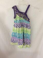 Star Ride Girl's Sleeveless Dress ~ Size 5/6 ~ Purple/Green/Blue