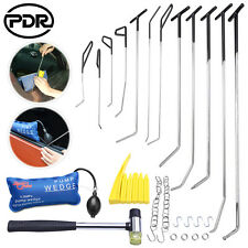 PDR Paintless Dent Repair Spring Steel Tail Rods Hooks Hammer Air Pump Wedge