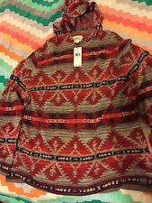 Denim & Supply Ralph Lauren Men Southwestern Inspired Knit Hoodie Sweat XXL