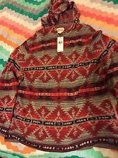 Denim & Supply Ralph Lauren Men Southwestern Inspired Knit Hoodie Sweat XXL