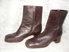 Rockport Dark Brown Leather Boots - Women's Boot Size 5 1/2 ~ 5.5 size