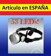 FRONTAL luz 53 LED running correr camping deporte cabeza soporte linterna paseo