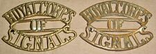 SHOULDER TITLES-ROYAL CORPS OF SIGNALS 1920-1929 MATCHED PAIR
