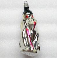 Rare Antiker Russen Christbaumschmuck Glas Weihnachtsschmuck Ornament Hundejäger