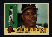 1960 Topps #158 Wes Covington NM/NM+ Braves A3931