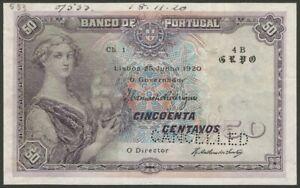 Portugal - 00$50 Ch.1 (50 Centavos ) - SPECIMEN