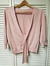 Soft Pink Cashmere Silk Sweater MODA International Scoop Back Women's LARGE