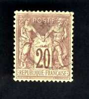 1876-78 FRANCE Red Brn Type Sage SC#70 A15 20c used