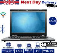 """Lenovo ThinkPad T430 14"""" Laptop Intel i5 3rd-Gen 2.6Ghz 4GB RAM 320GB HDD AGrade"""