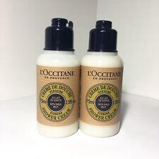 2 x L'OCCITANE Verbena Shower Cream with Shea Milk - 2.5oz/ 75ml NEW Travel Size