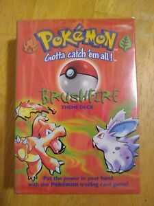 New Sealed Pokemon BRUSHFIRE Theme deck - Possible Shadowless