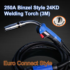 Binzel 24KD MIG/MAG/CO2 Welder Welding Machine Torch Euro Connector 3M Air Cool
