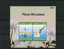 Togo 2014 MNH African Flowers 2v S/S II Fleurs Africaines Flora Jasmin Gladiolus
