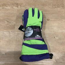 Ladies Crane Fleece Lined Thinsulate Snowboard Gloves Brand New