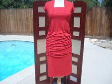 NWT Envie de Fraises Red Viscose Cap Short Sleeve Women's Dress 36/38 4/6 France
