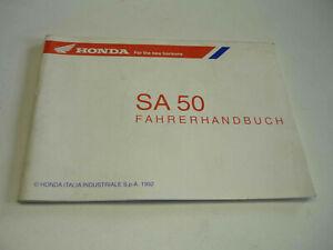 Orig Honda Fahrerhandbuch Bedienungsanleitung SA50 Vision Roller SA 50