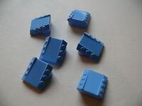 Lego 6 briques bleu moyen set 4562 / 6 medium blue brick modified w/ pistons