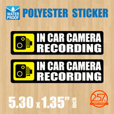 2 pcs In Car Camera Recording Sticker Dash Cam on Board Video Bumper Baby Decal