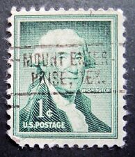 Sc # 1031 ~ 1 cent Liberty Issue, Washington,Precancel, MOUNT ENTER-PRISE, TEX.