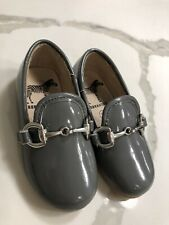 ZEEBRA Kids Patent Buckle Loafer Shoes Iron Grey Size 22 Brand New Without Box.