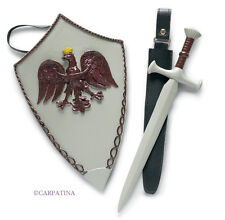 """Sword and Shield Accessories fits 18"""" American Girl and Carpatina Dolls, NEW"""