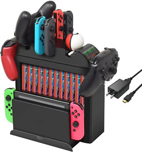 FastSnail Game Storage Tower Compatible with Switch, All in One Charging Dock St